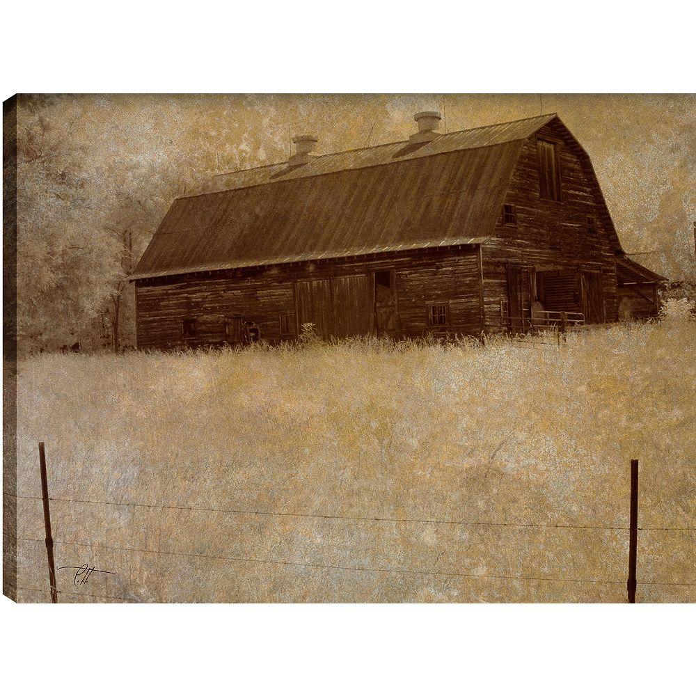 Art Maison Canada La cabane ' épreuve photographique sur toile enveloppé