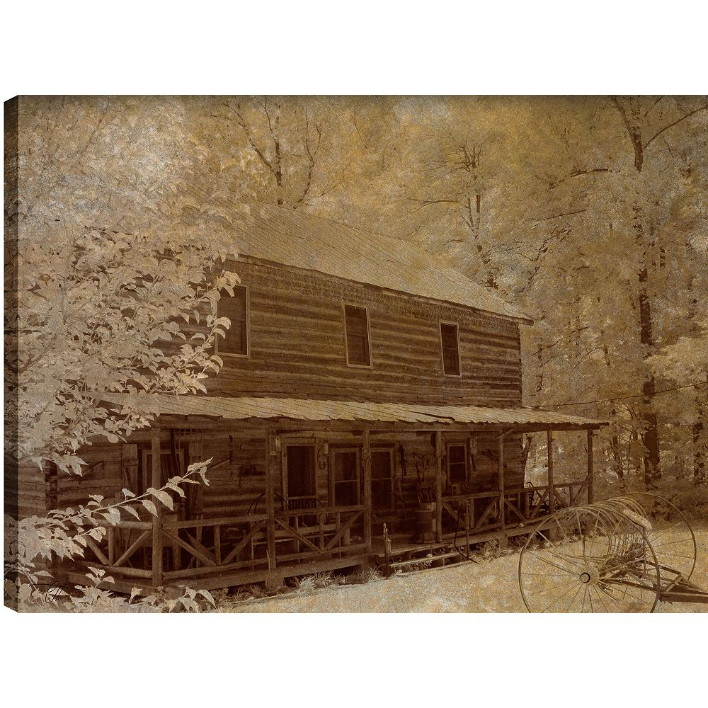 Art Maison Canada Hut in the Trees' Photographic Print on Wrapped Canvas