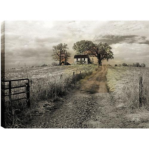 Chemin d'accès à la ferme ' épreuve photographique sur toile enveloppé