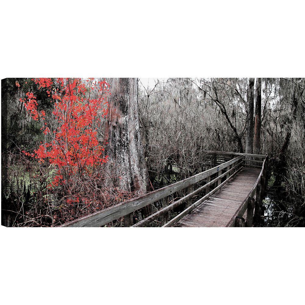 Art Maison Canada Pont en bois III' épreuve photographique sur toile enveloppé