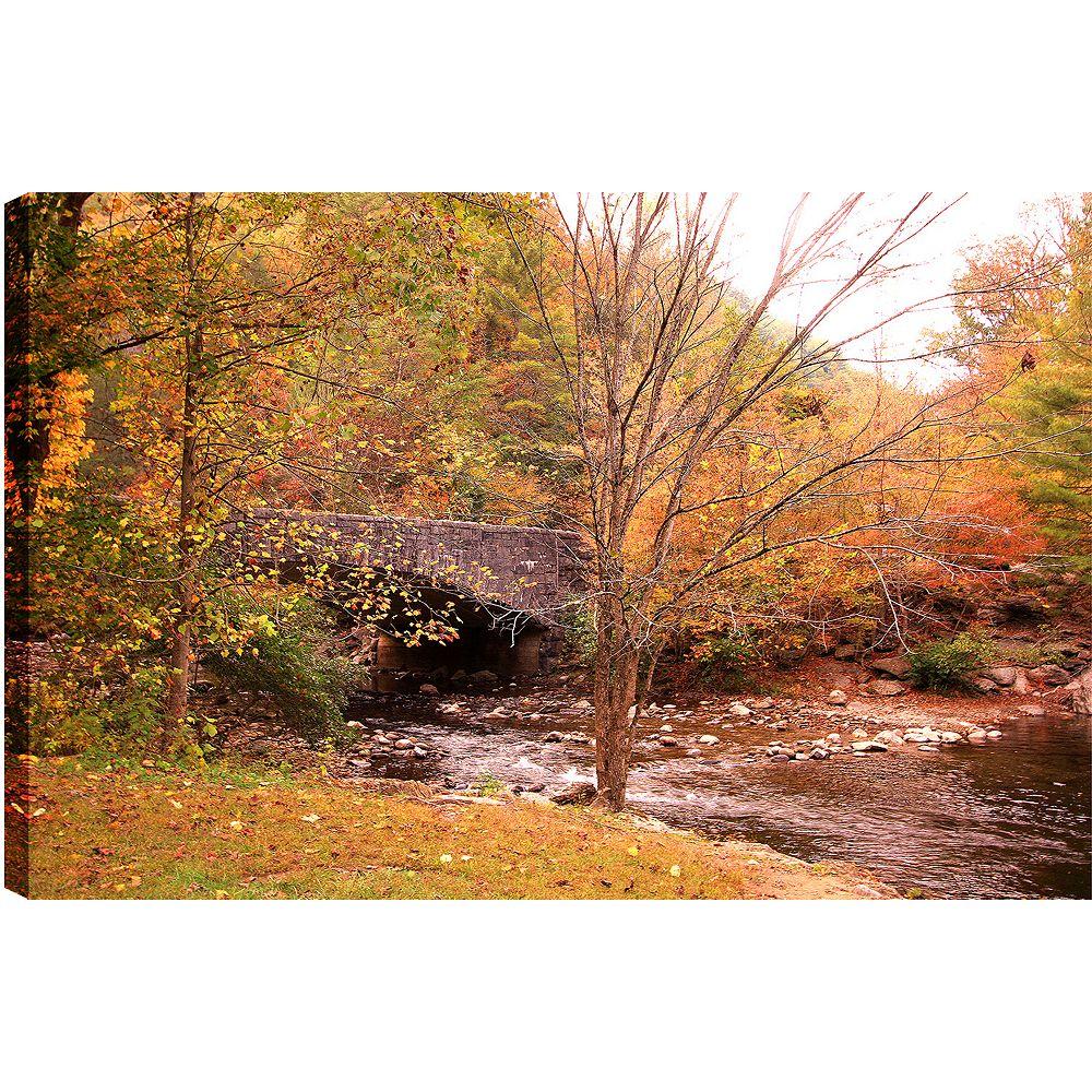 Art Maison Canada Tirage photographique des couleurs l'automne sur toile enveloppé