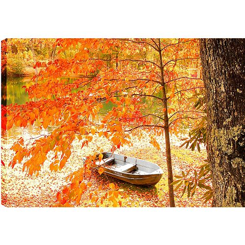 The Lake Boat'Photographic Print on Wrapped Canvas