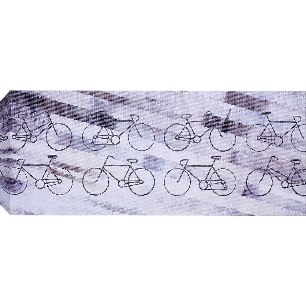 Art Maison Canada Vélos mural Art sur toile enveloppé