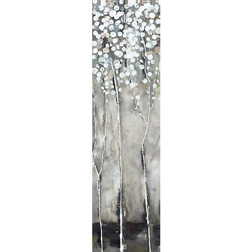 Arbre fleurs III blanches ' peinture impression sur enveloppé de toile