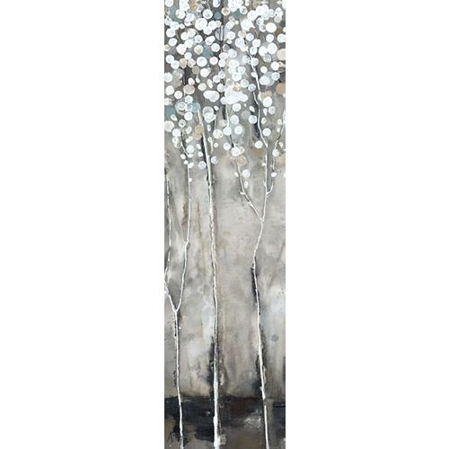 White Tree Flowers III' Painting Print on Wrapped Canvas
