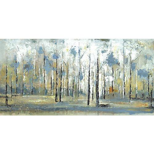 Peinture impression des Branches sur toile enveloppé du ciel