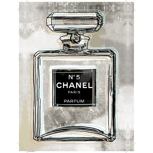Chanel' Graphic Art on Wrapped Canvas