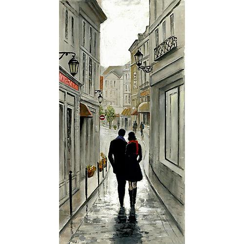 Amsterdam à pied II' peinture impression sur enveloppé de toile