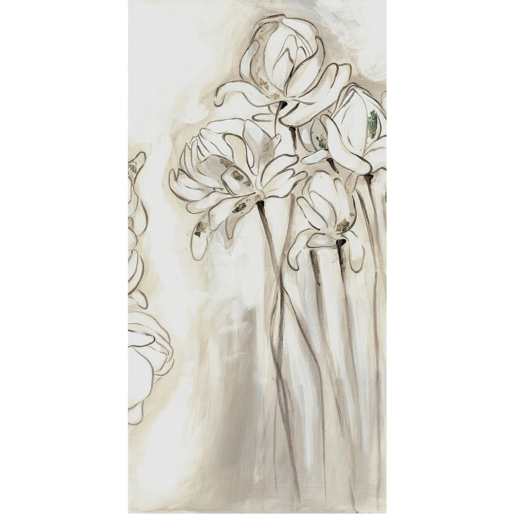 Art Maison Canada Flower Sketch Iii Painting Print On Wrapped Canvas The Home Depot Canada