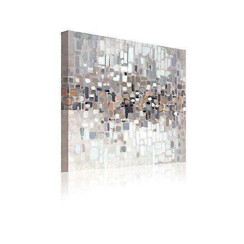 Résumé II' mur d'Art sur toile enveloppé