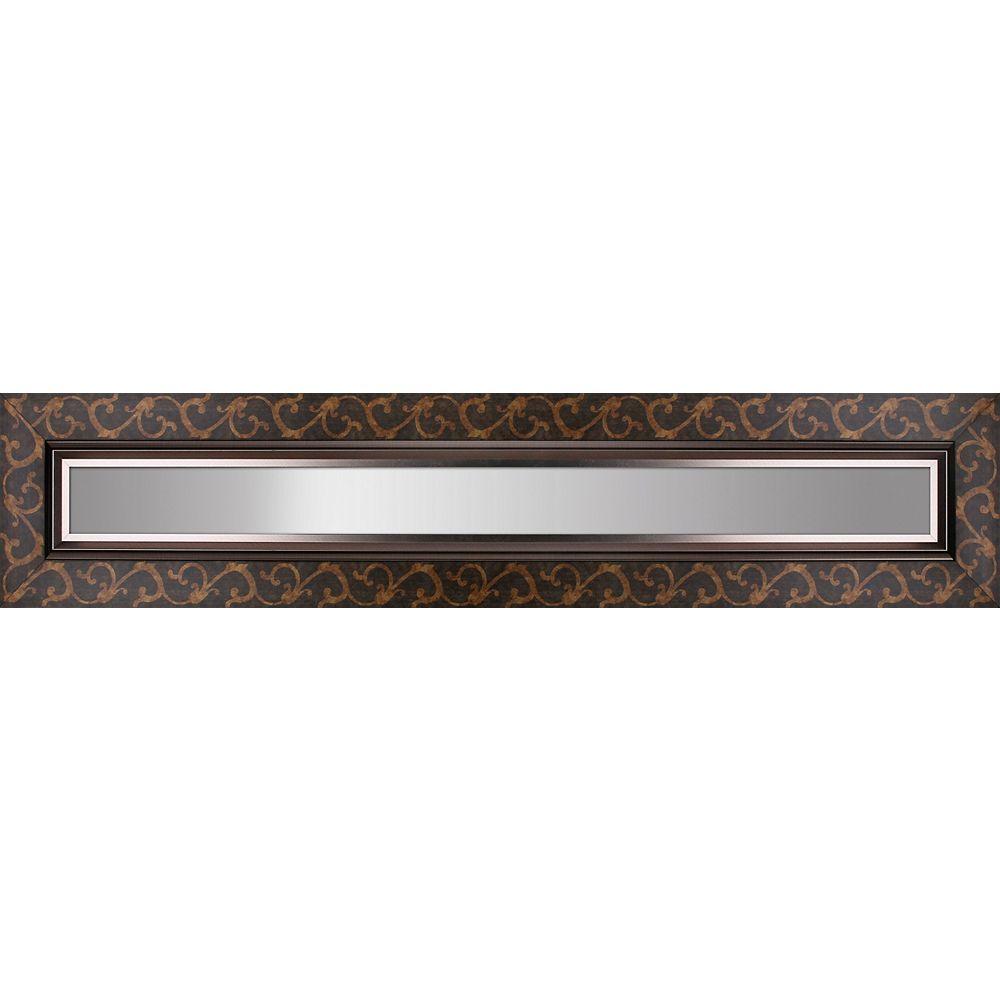 Mirrorize Canada Tourbillon à motifs cadre Liner Accent miroir 11.25X55.25 miroir dintérieur 4 X 48, ensemble de 3