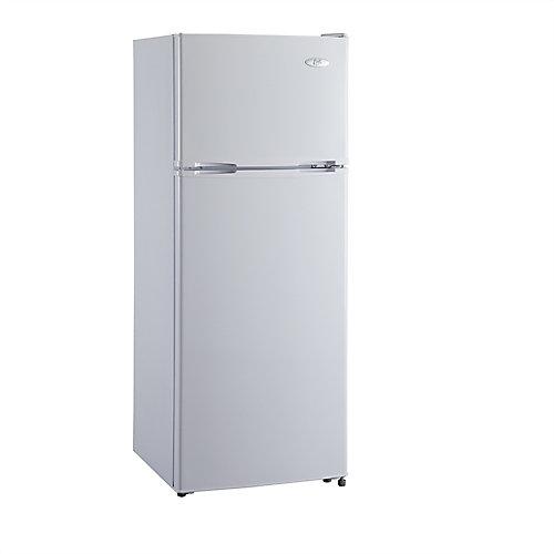 Réfrigérateur de 7,5 pi3 à congélateur supérieur - blanc
