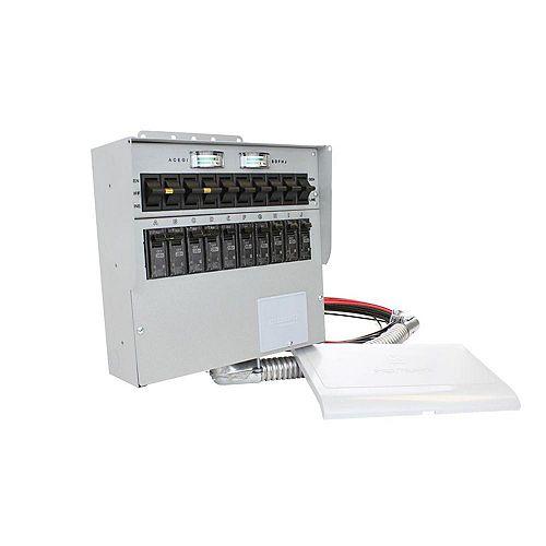 Trousse de commutateur de transfert pour lintérieur-50A,12500 W,10 circuits de Reliance Controls