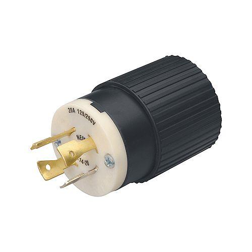 L14-20 Twist Lock 20-Amp 125/250-Volt Generator Cord Plug