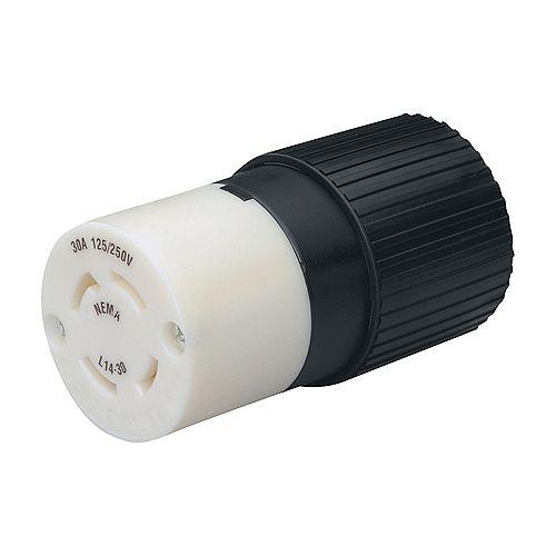 Connecteur pour cordon de génératrice avec fiche tournante de verrouillage 30 A, 125/250 V - L1430C
