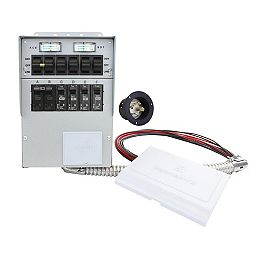306A 30-Amp 6-Circuit Manual Transfer Switch/Meters, Power Inlet