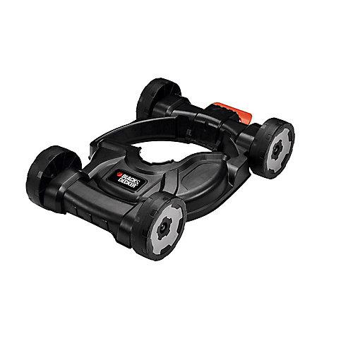 Plateau de coupe amovible à roues pour tondeuse à gazon 3-en-1 à ligne droite électrique de 12 po à arbre droit 3-en-1, coupe-bordures, coupe-bordures, tondeuse à poussée.