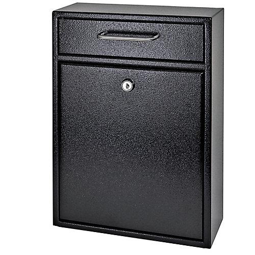 Boîte de dépôt de sécurité verrouillable Mail Boss noire