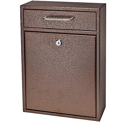 Boîte de dépôt de sécurité verrouillable Mail Boss bronze