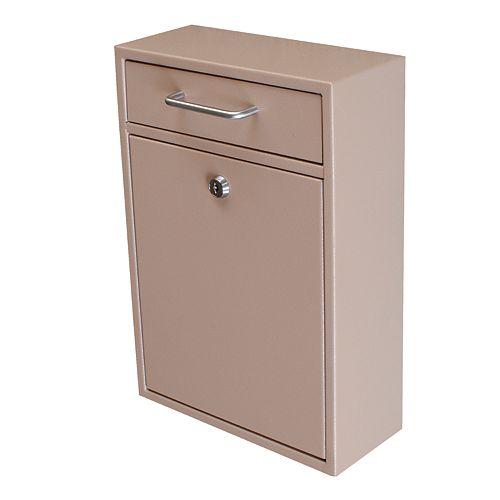 Mail Boss Locking Security Drop Box, Tan