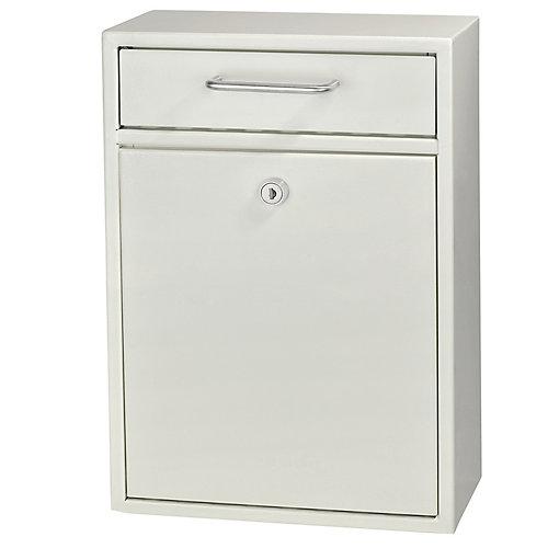 Locking Security Drop Box, White