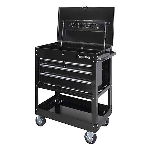 33-inch 4-Drawer Mechanics Mobile Tool Utility Cart in Black