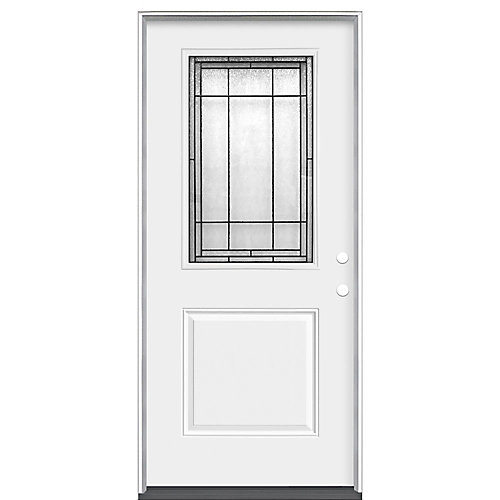 Brant 32-inch x 80-inch x 4 9/16-inch 1/2 Lite Left Hand Heavy Duty Steel Entry Door (Energy Star)