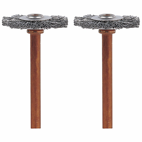 3/4 inch Stainless Steel Brushes (2-Pack)