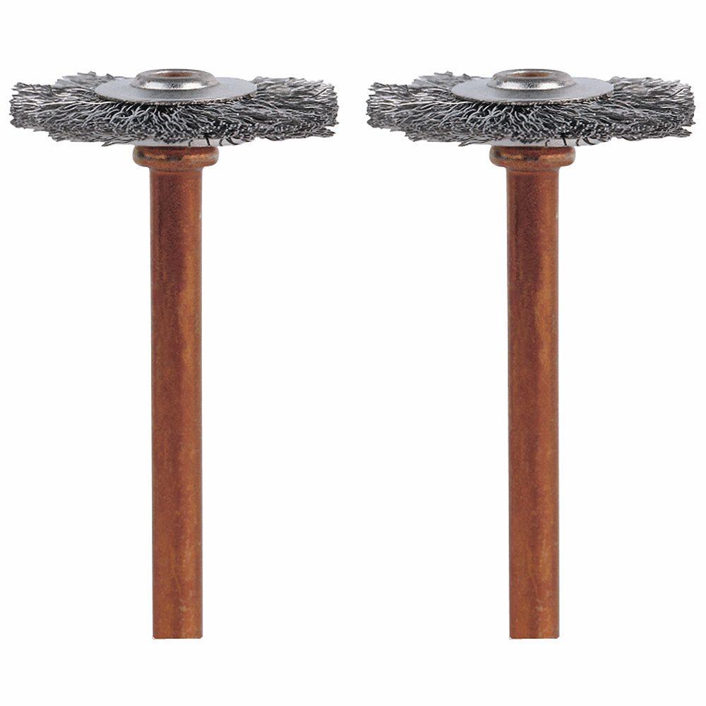 Dremel 3/4 inch Stainless Steel Brushes (2-Pack)