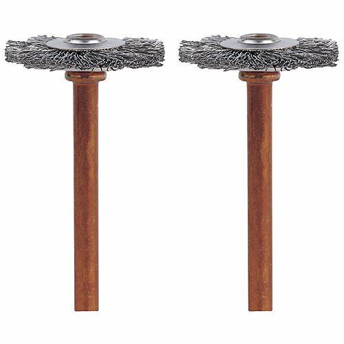 Brosse en acier inoxydable de 3/4 po (2 pièces)