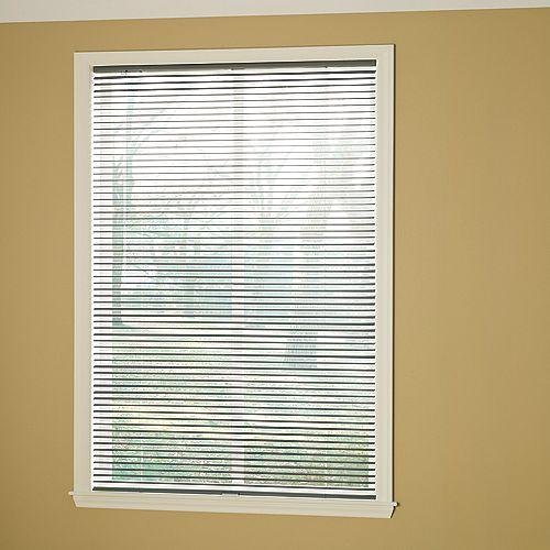 Hampton Bay Cordless 1 3/8-inch Room Darkening Vinyl Cut Blinds Grey 24-inch x 48-inch (Actual width 23.625-in)