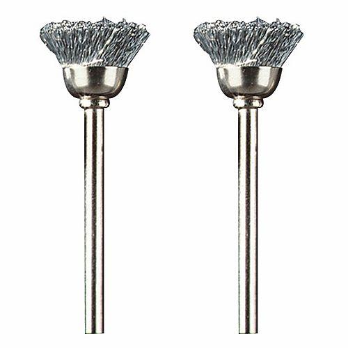 Brosse coupe en acier au carbone de 1/2 po (2 pièces)