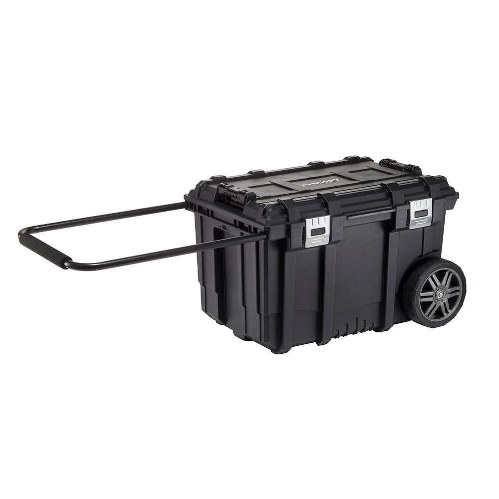 12-inch Connect Rolling Tool Storage Box Black