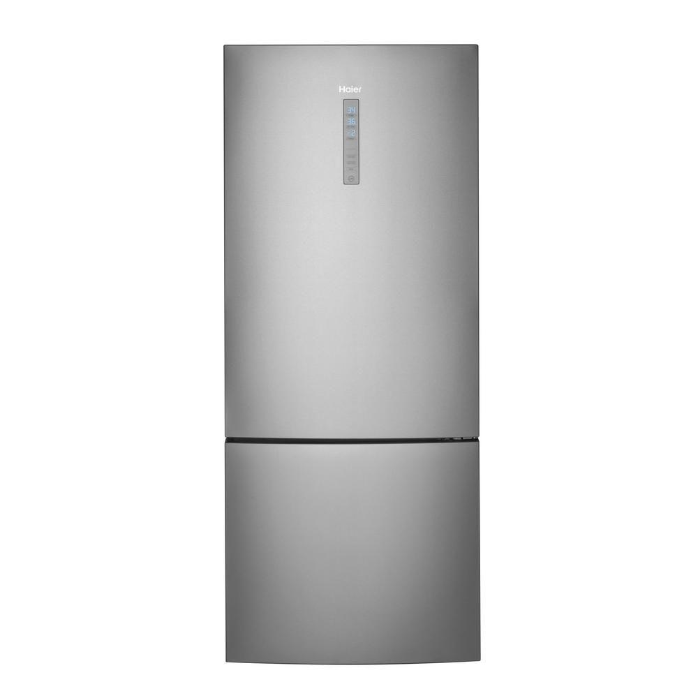 28-inch W 15.0 cu. ft. Bottom Freezer Refrigerator in Stainless Steel, Counter Depth