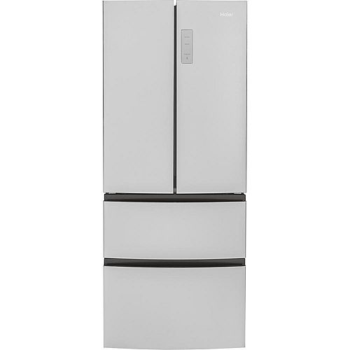 Haier 28-inch W 15.0 cu. ft. Counter Depth French Door Refrigerator in Stainless Steel