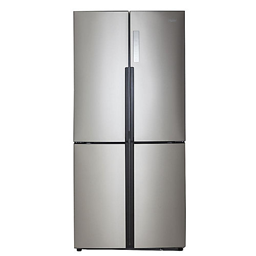 32.8-inch W 16.4 cu. ft. Bottom Freezer Refrigerator in Stainless Steel, Counter Depth