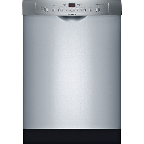 Bosch Ascenta 24-inch Front Control  Dishwasher in Stainless Steel, 50dBA, Anti-Fingerprint ENERGY STAR®