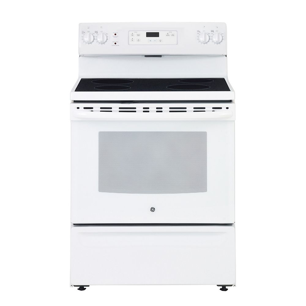GE 30-inch 5.0 cu. ft. Single Oven Electric Range Oven in White