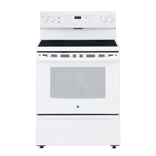 30-inch 5.0 cu. ft. Single Oven Electric Range Oven in White