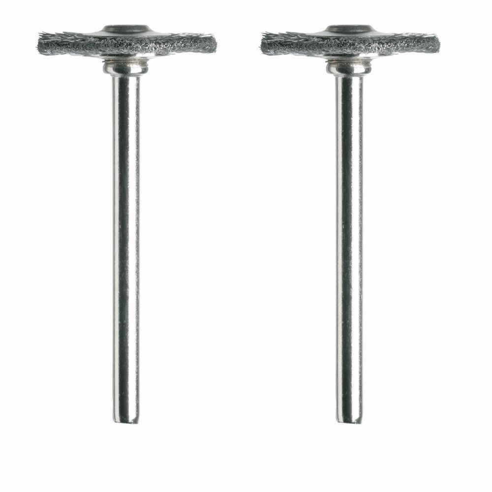3/4 inch Carbon Steel Brushes (2-Pack)