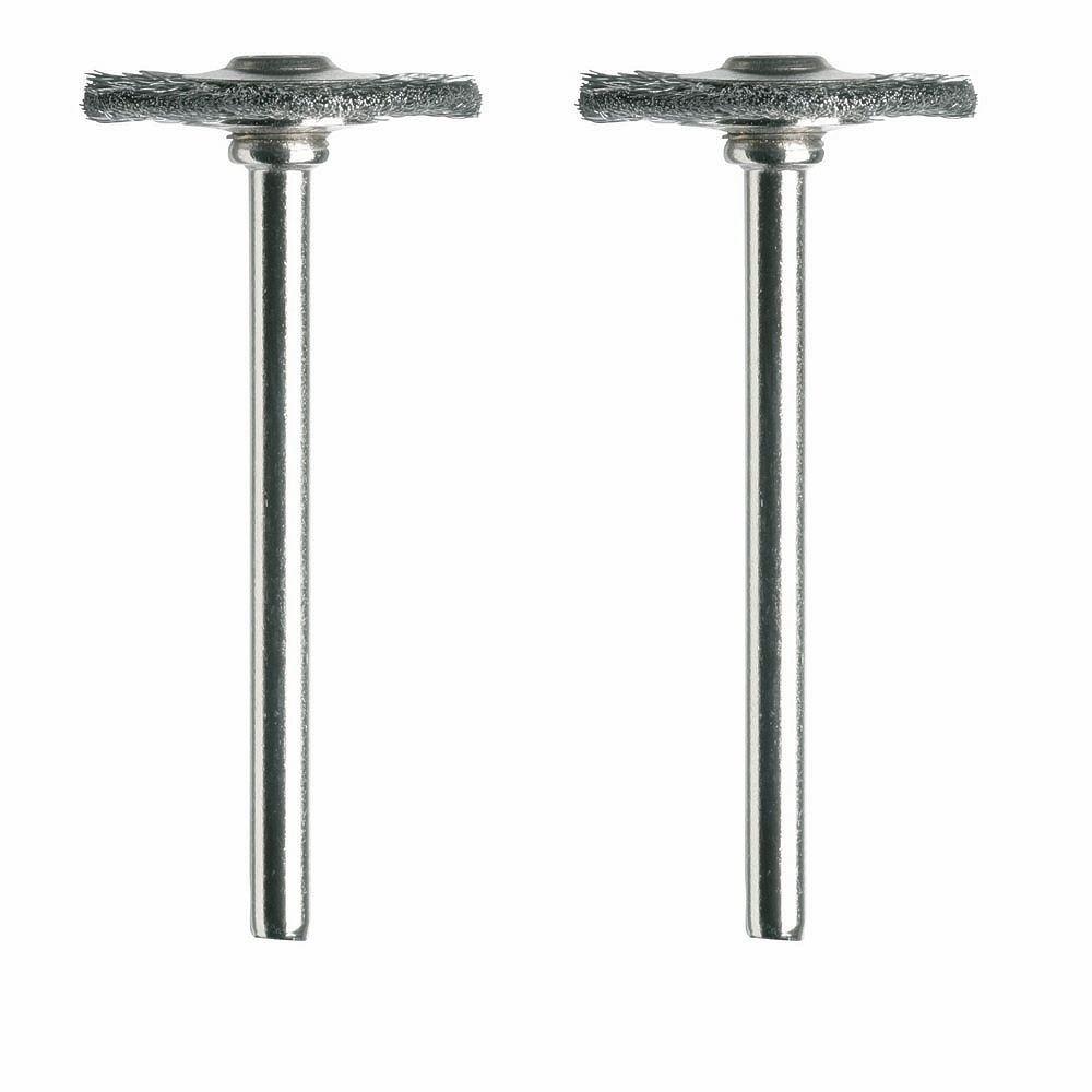 Dremel 3/4 inch Carbon Steel Brushes (2-Pack)