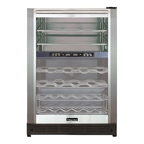 Built-in Dual-zone Wine and Beverage Center in Stainless steel