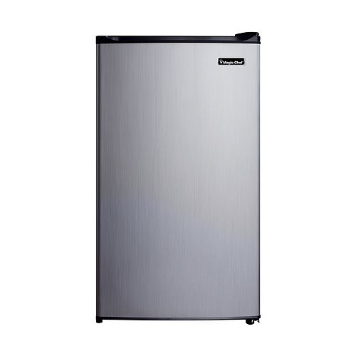 3.5 Cu. Ft. Mini Refrigerator Stainless steel look