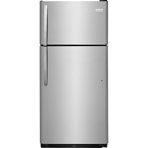 30-inch W 18 cu. ft. Top Freezer Refrigerator in Stainless Steel
