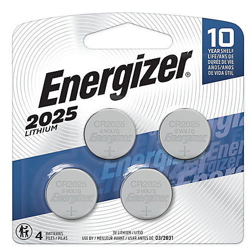 Energizer 2025 Lithium Coin Battery, 4 Pack
