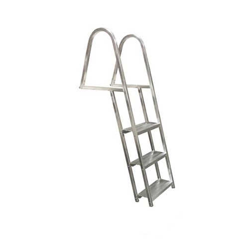 3 Step, angled, Aluminum Dock Ladder