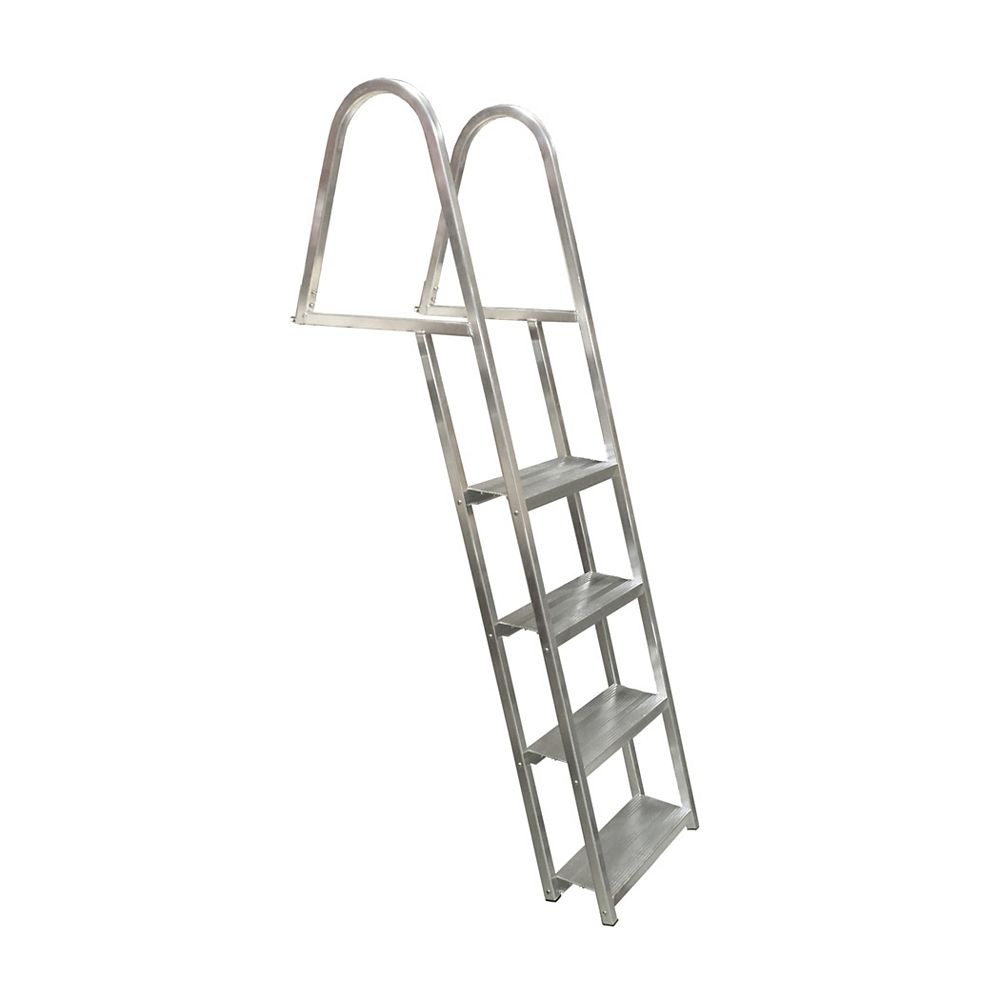 Multinautic 4-Step Angled Aluminum Dock Ladder
