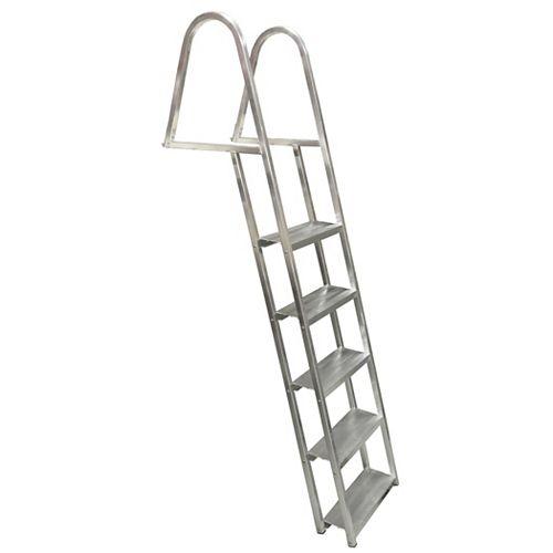 5-Step Angled Aluminum Dock Ladder