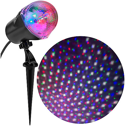 Applights Multi-Colour LED Star Spinner Holiday Projector