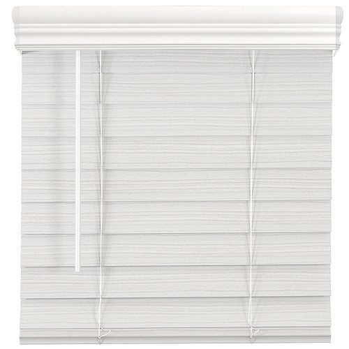 Home Decorators Collection 2.5-inch Cordless Fauxwood Blind White 66-inch x 48-inch